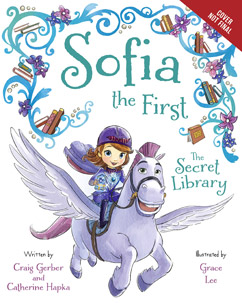 "At D23 Expo, Ariel Winter read ""Sofia the First - The Secret Library"" to the children on stage."