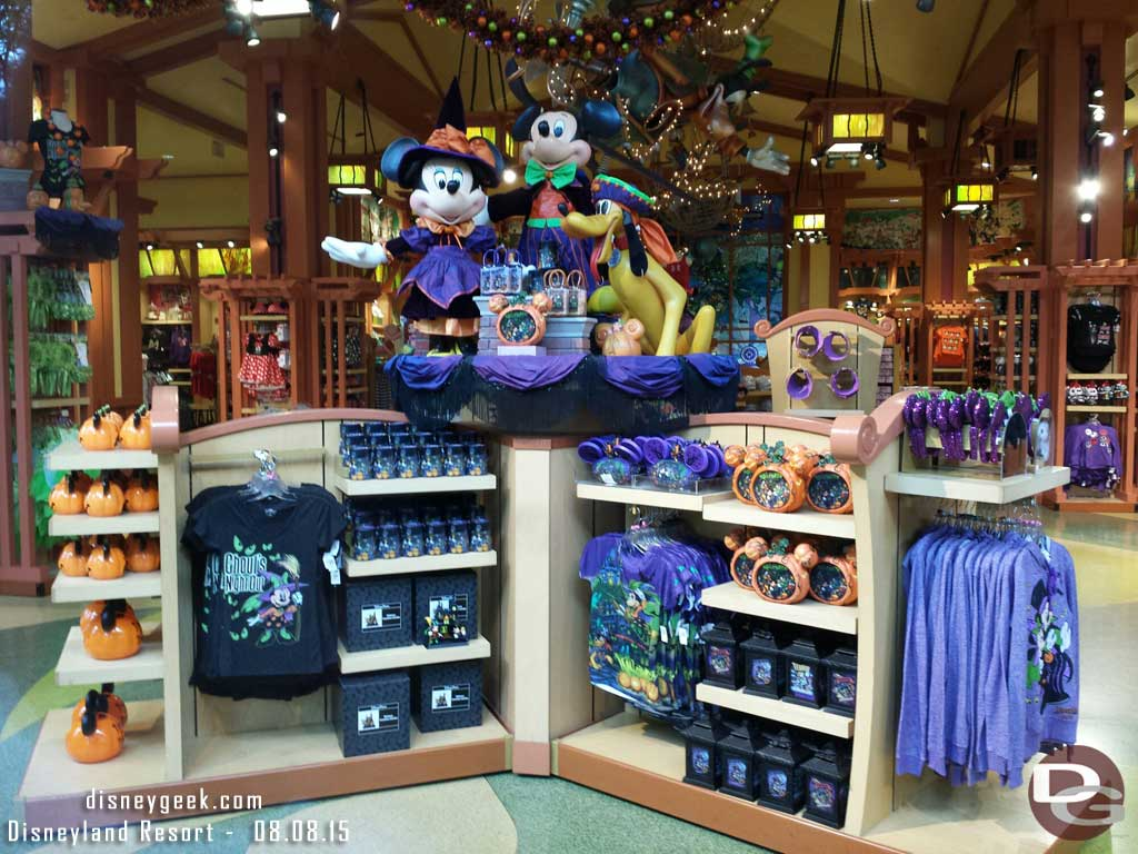 Halloween is front and center at World of Disney #Disneyland now