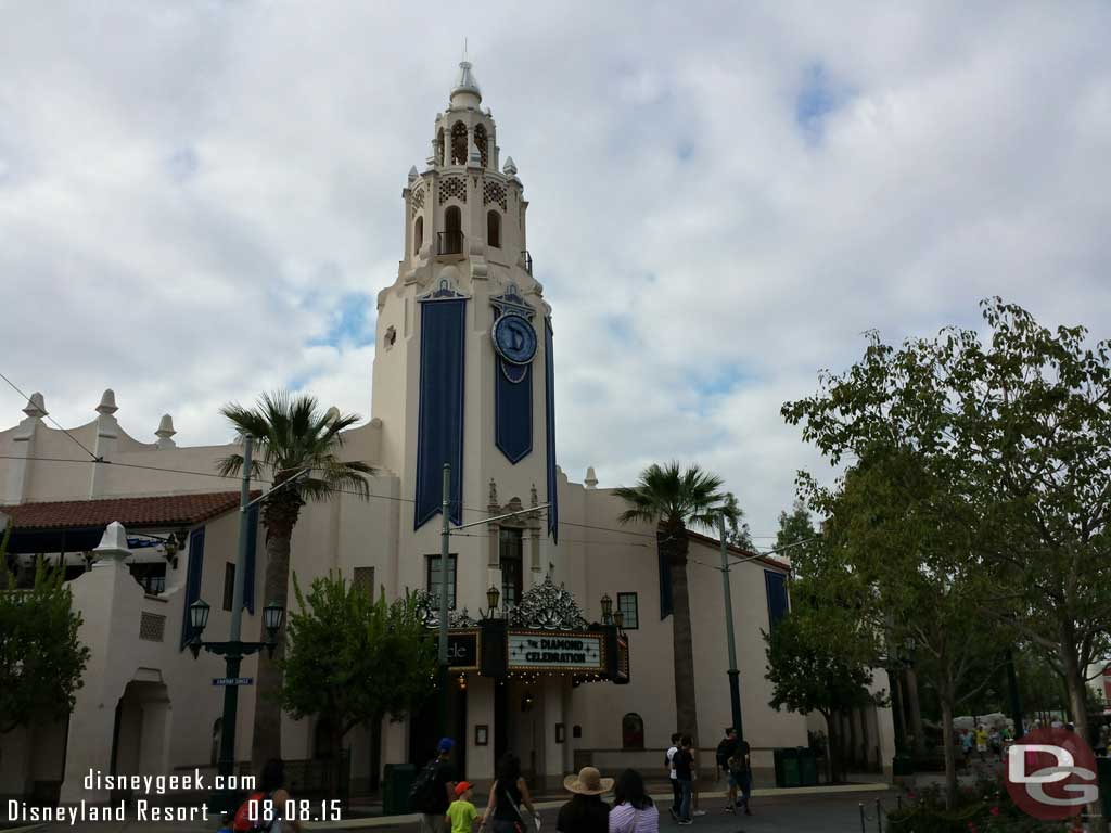 Passing by the Carthay Circle Restaurant on #BuenaVistaStreet