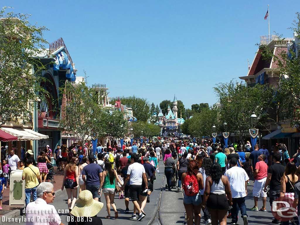 Main Street USA #Disneyland this morning