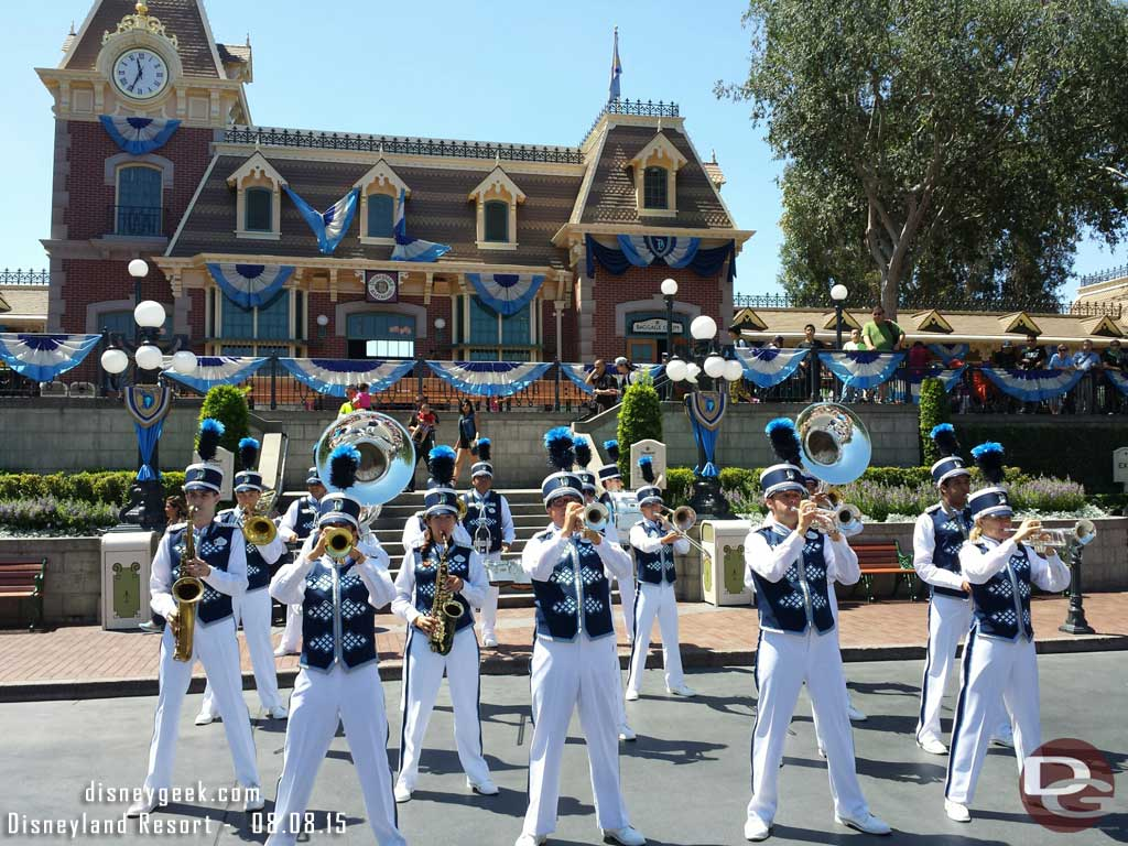#Disneyland Band in Town Square