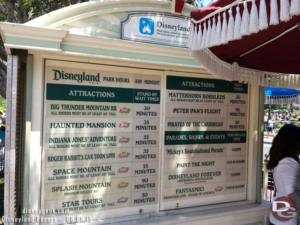 #Disneyland waits as of 11:55am
