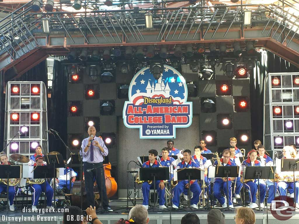 John Clayton with the #Disneyland All-American College Band #aacb
