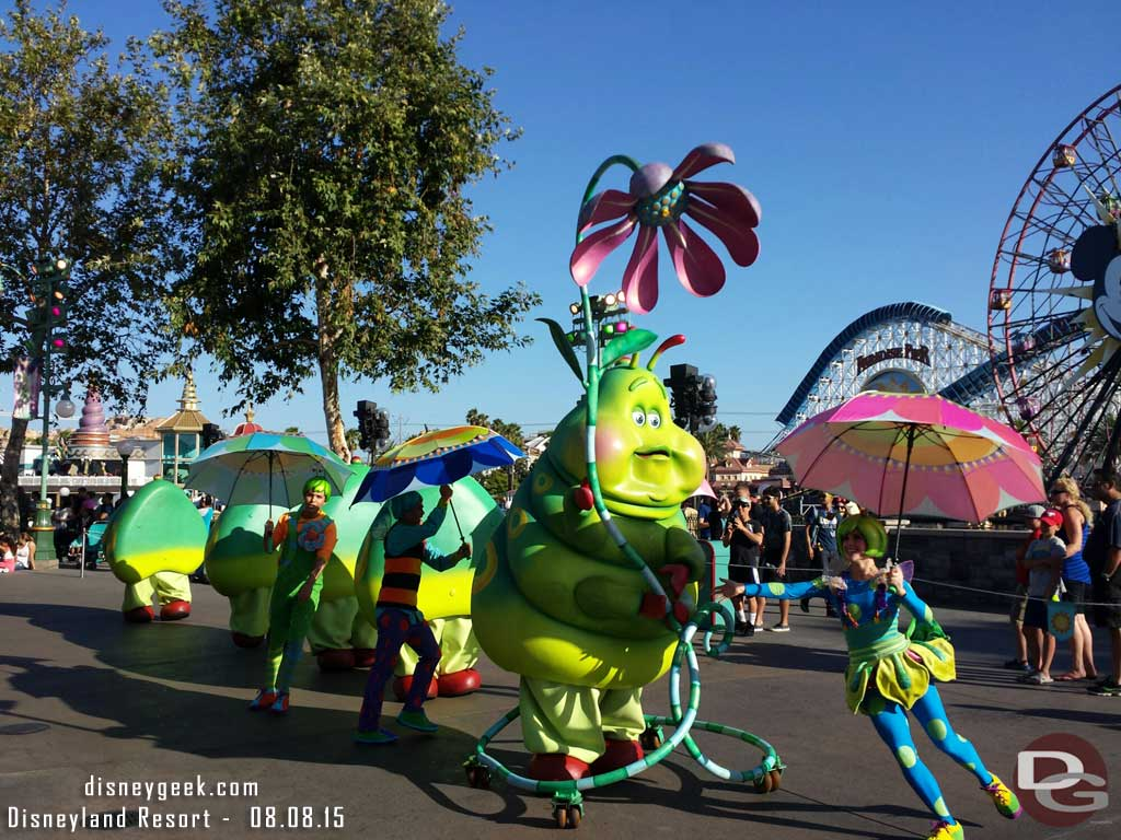 Heimlich in the Pixar Play Parade at Disney California Adventure