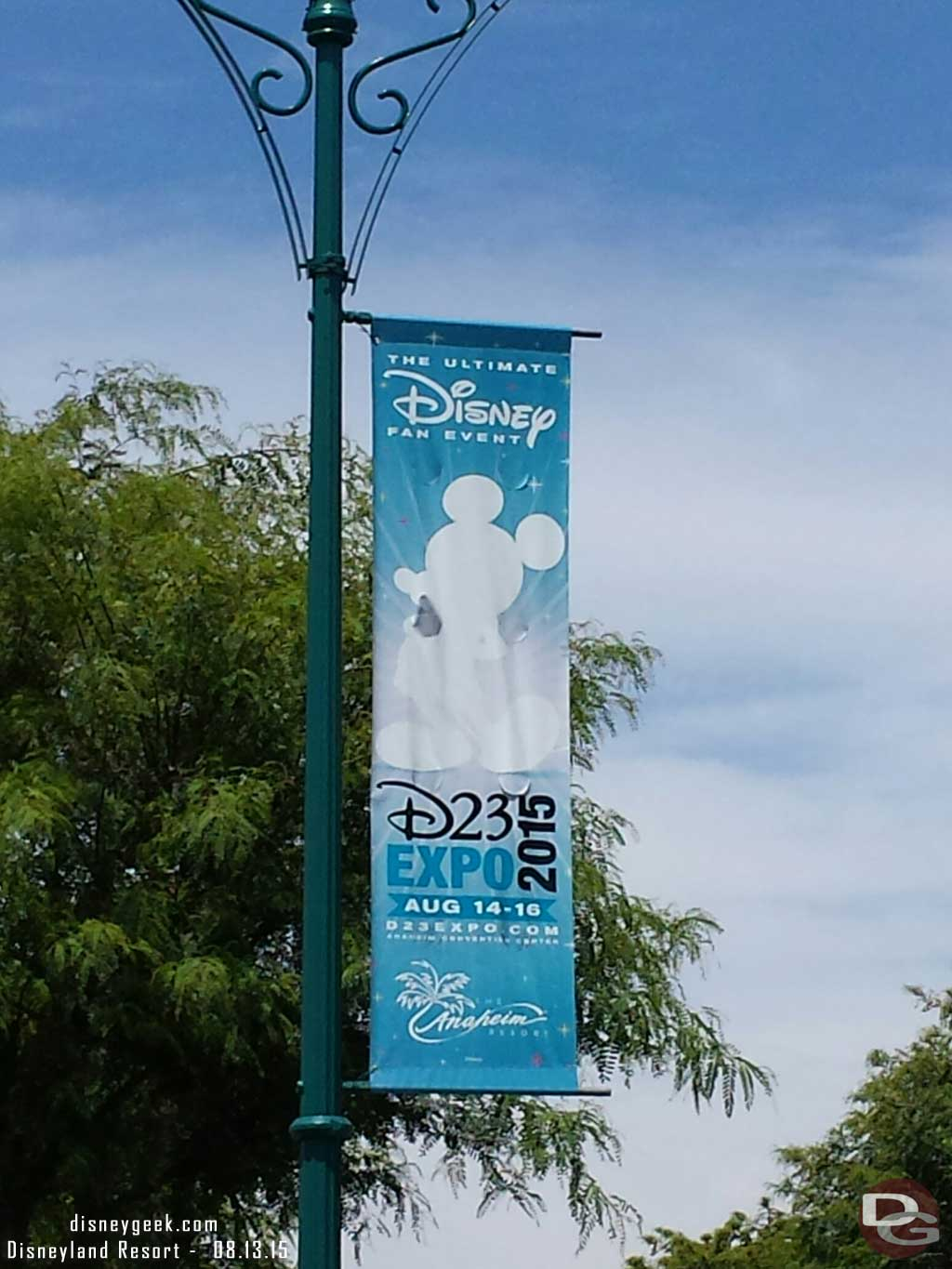Just arrived in Anaheim for the #D23Expo