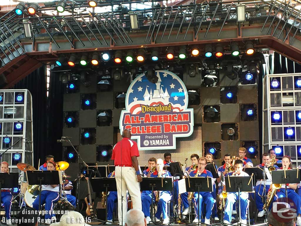 Enjoying one more performance by the 2015 All-American College Band tomorrow is their last day #aacb