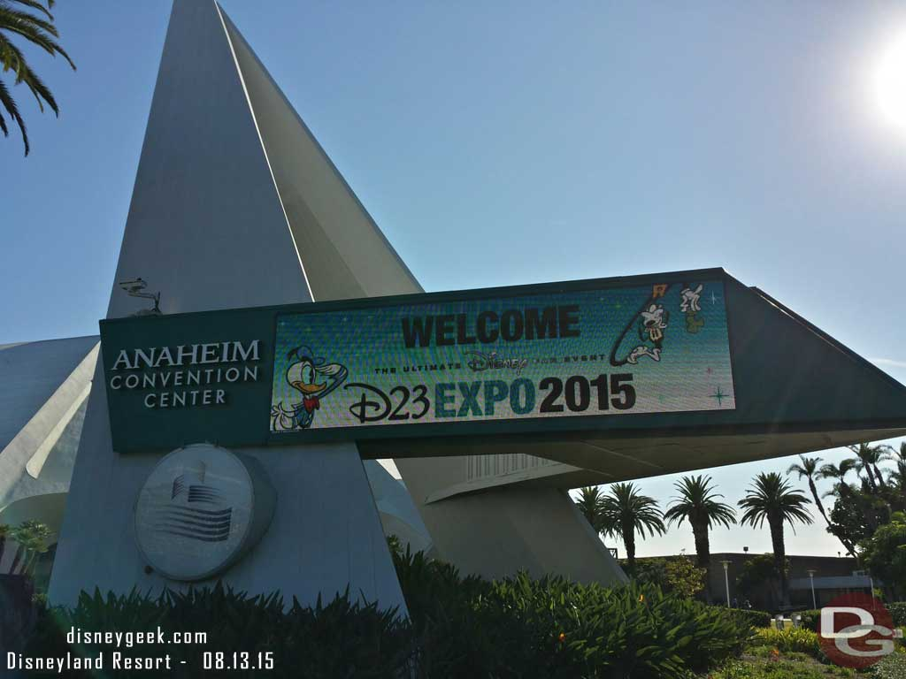 Arriving at the Anaheim Convention center for #D23Expo
