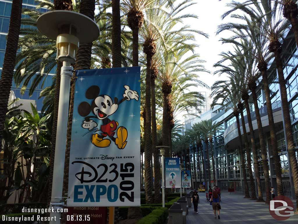#D23Expo signage as you approach the convention center