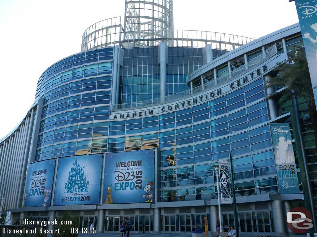 Anaheim Convention center front entrance #D23Expo