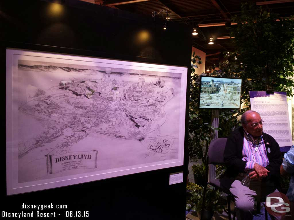 Marty Sklar in front of a #Disneyland map in the archives exhibit at #D23Expo