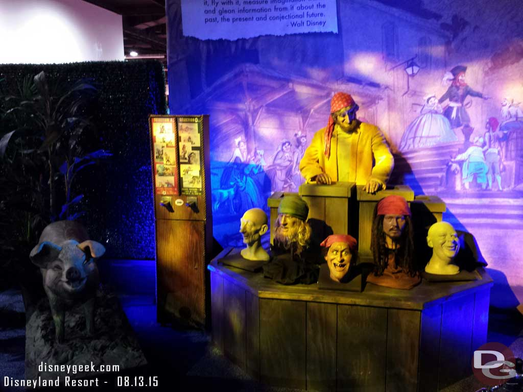 Pirates of the Caribbean in the archives exhibit #D23Expo