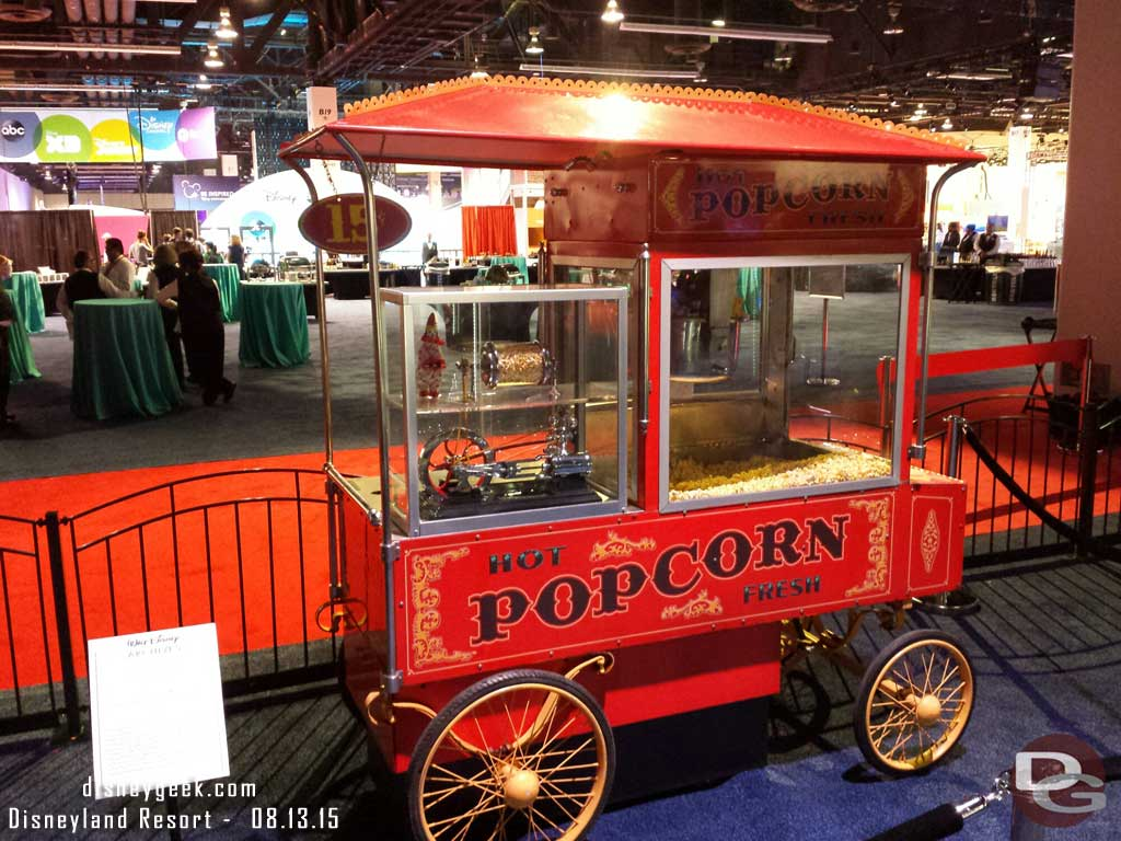 #Disneyland popcorn cart in the archives exhibit #D23Expo