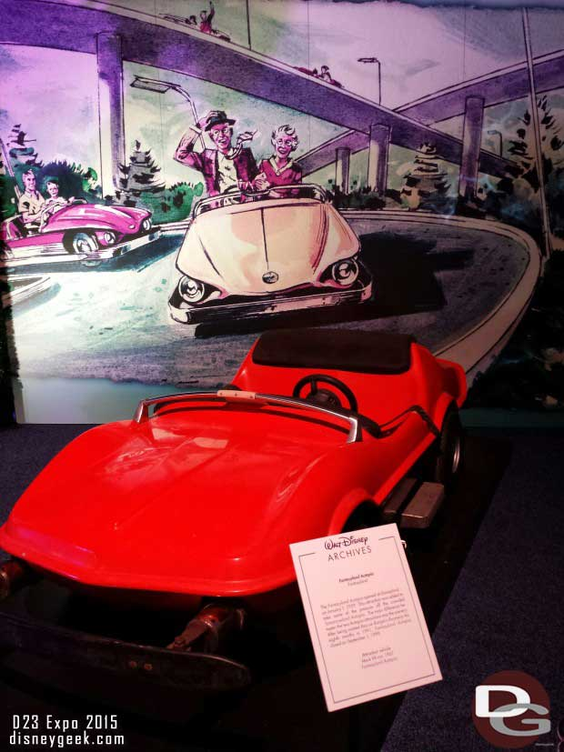 Autopia Car - Walt Disney Archives Presents - Disneyland: The Exhibit