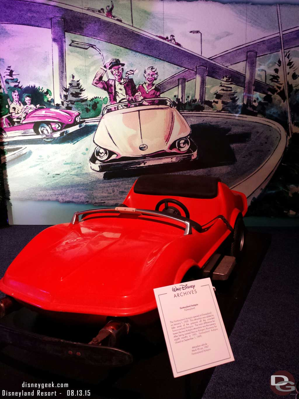 Autopia Car - Walt Disney Archives Presents - Disneyland: The Exhibit