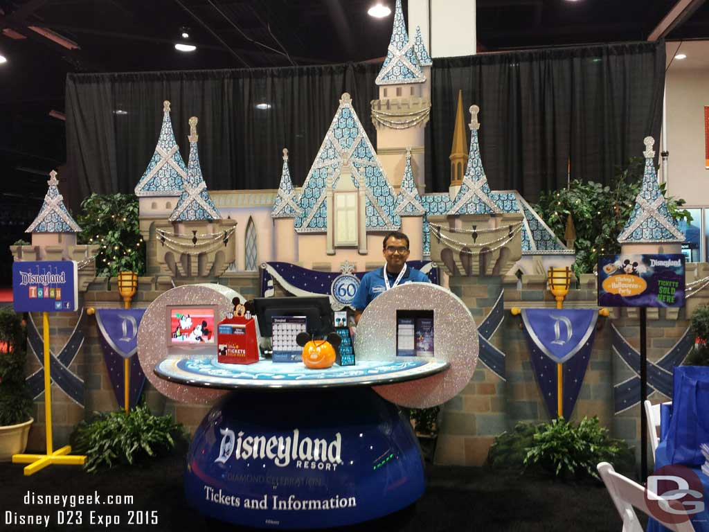 The #DisneyDesk booth is your stop for #Disneyland tickets & info #D23Expo