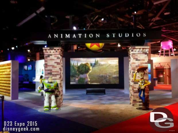 Pixar Studios on the show floor