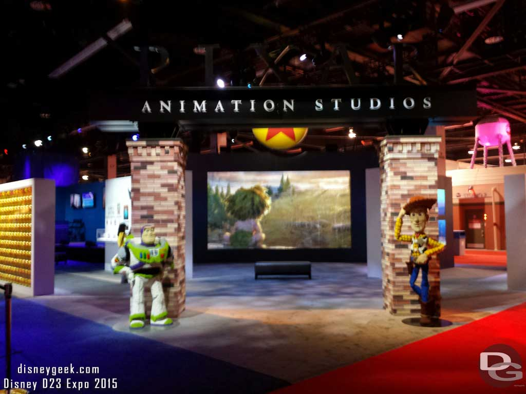 The Pixar Animation Studios area on the #D23Expo floor