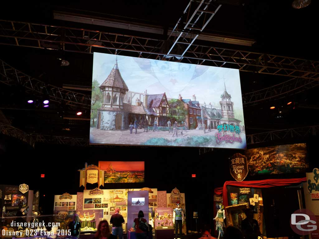 Shanghai Disneyland concept art & displays #D23Expo