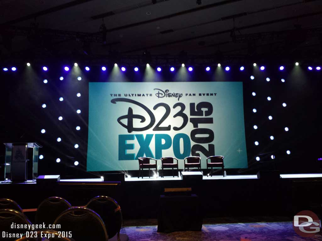 Waiting for the Imagineering 60 Years of #Disneyland session #D23Expo