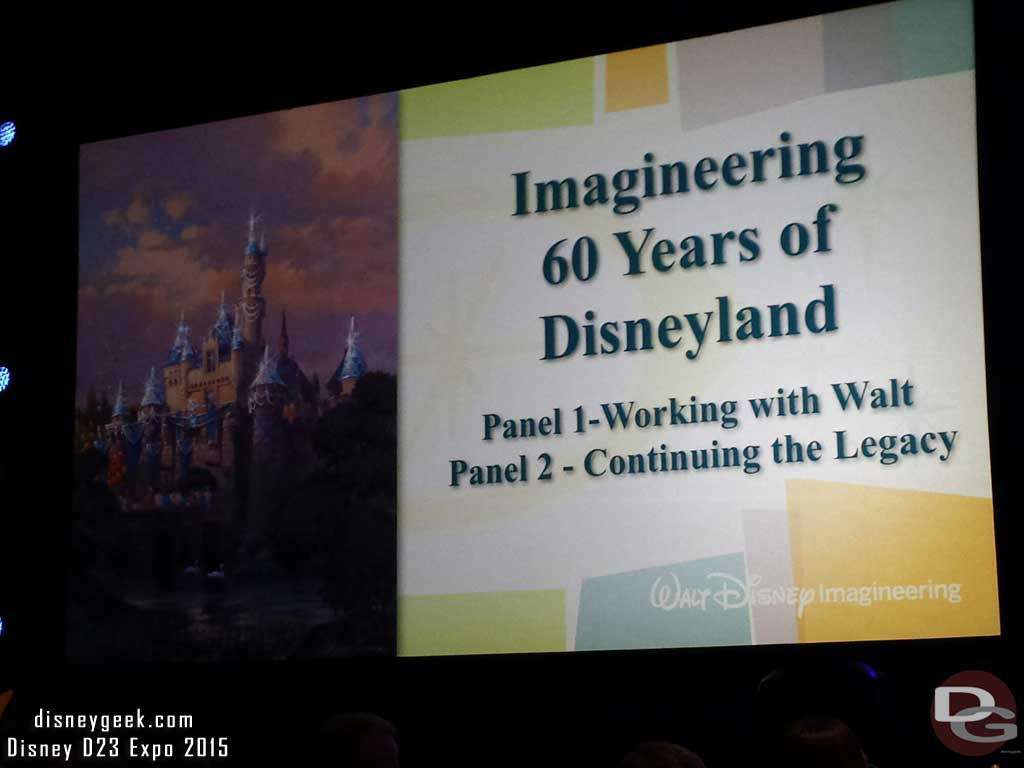 Imagineering 60 Years of #Disneyland  title slide #D23Expo