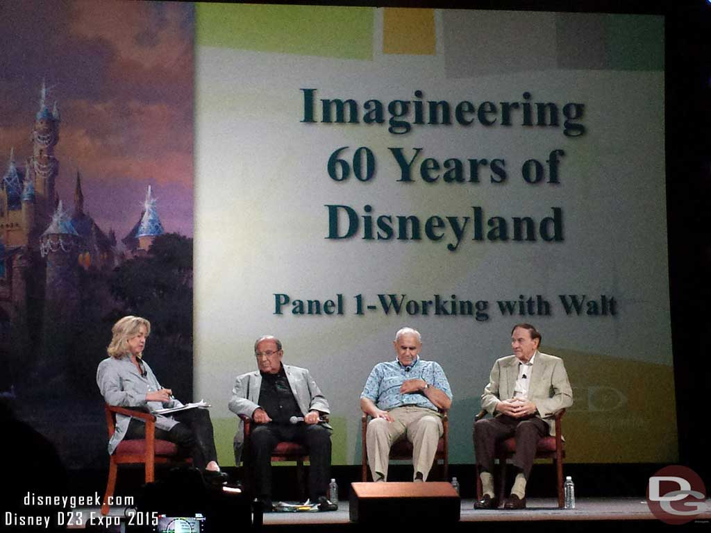 Working with Walt panel #D23Expo