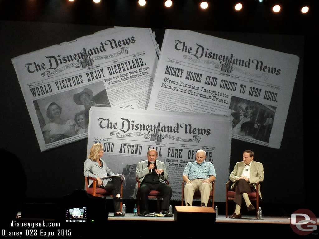 Marty Sklar talked about his 1st #Disneyland job writing for the newspaper #D23Expo