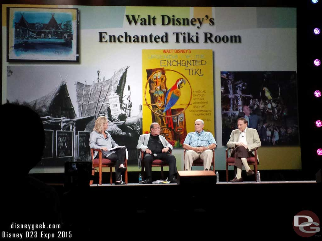 Orlando Ferrante 1st job was to move/install the Tiki Room @ #Disneyland #D23Expo