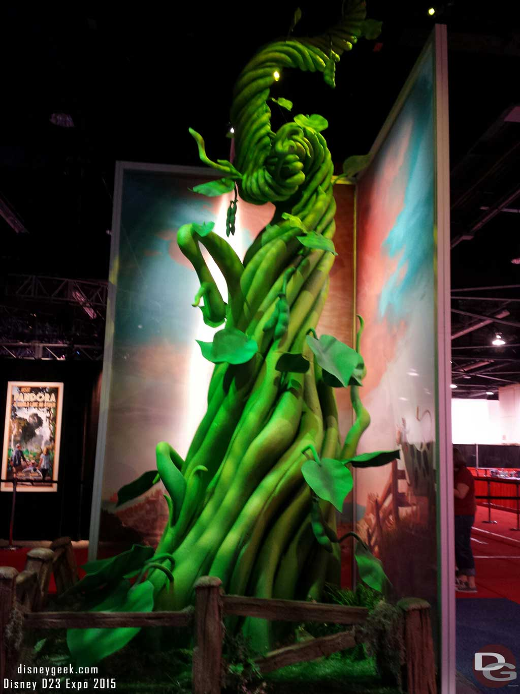 A Beanstalk for the upcoming Disney Animated film Gigantic  #D23Expo