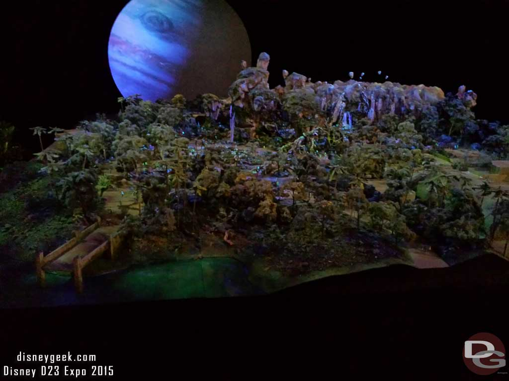 Pandora model showing what it will look like at night #D23Expo