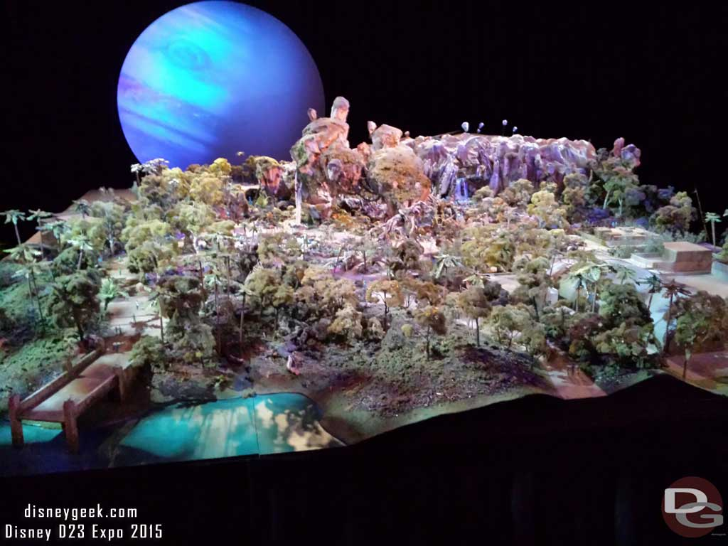 A model of Pandora coming to Disney's Animal Kingdom #WDW #D23Expo