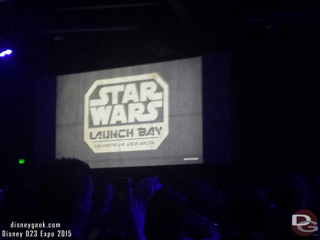Star Wars Launch Bay coming to both #Disneyland & #WDW #D23Expo