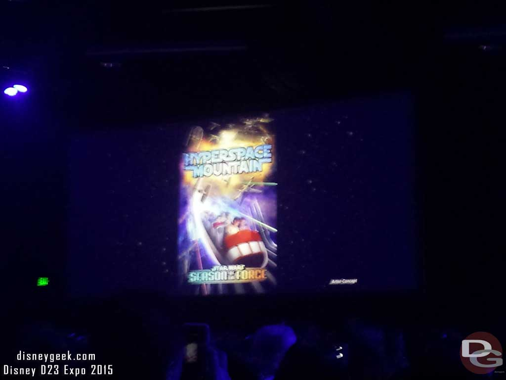 Season of the Force including a Space Mountain overlay this spring at #Disneyland #D23Expo