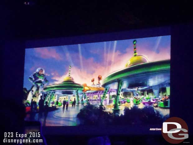 A Buzz Lightyear attraction that sounded similar to Mater's Junkyard Jamboree