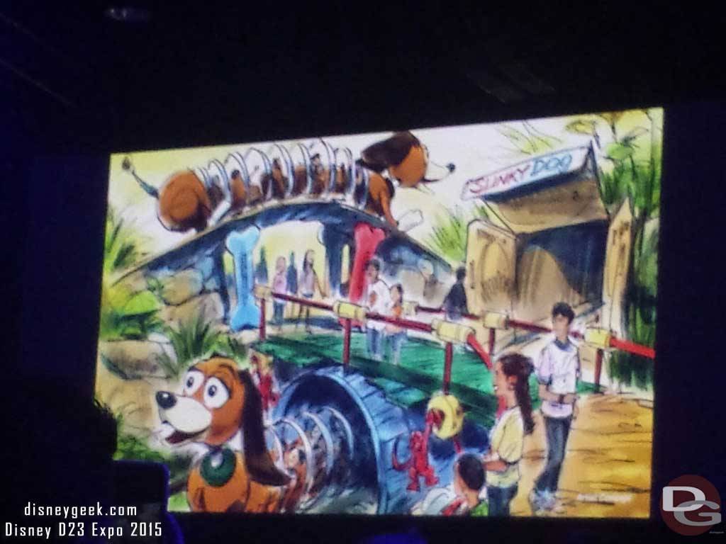 Slinky Dog family coaster attraction #ToyStoryLand #WDW #D23Expo
