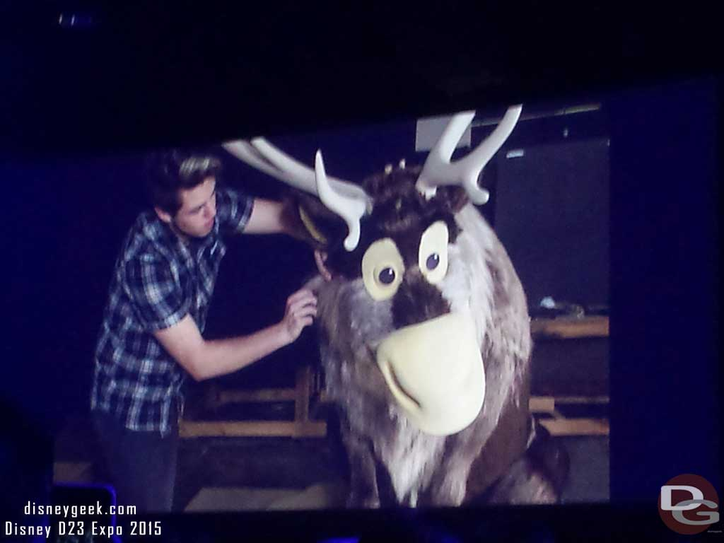 Sven for the new #Frozen attraction at #Epcot #D23Expo