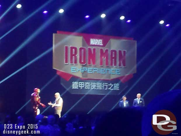 Stan Lee and Ironman made an appearance to promote the upcoming Hong Kong Attraction.