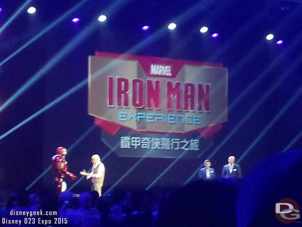 Iron Man & Stan Lee at #D23Expo