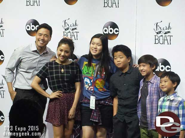 """The Cast of """"Fresh Off the Boat"""" meeting guests at the ABC Area on the Show Floor"""