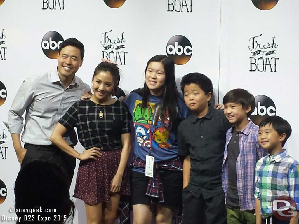 The Fresh Off the Boat cast meeting fans at #D23Expo