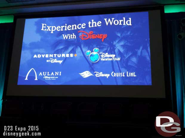 Waiting for the only presentation I attended today. Experience the World with Disney