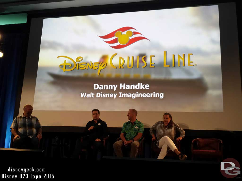 Danny Handke from WDI talking about Disney Cruise Line #D23Expo
