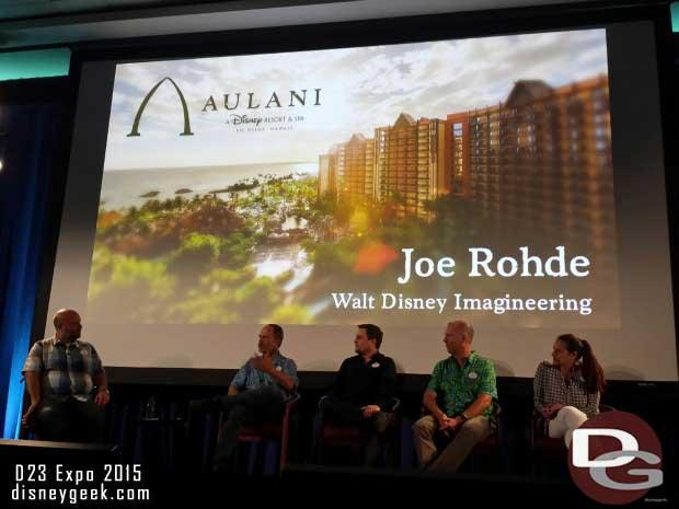 Joe Rohde spoke about Aulani