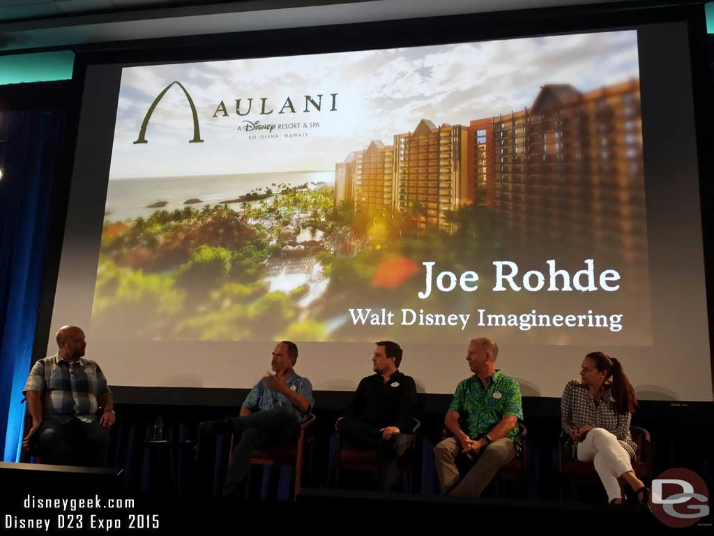 Joe Rohde spoke about Aulani
