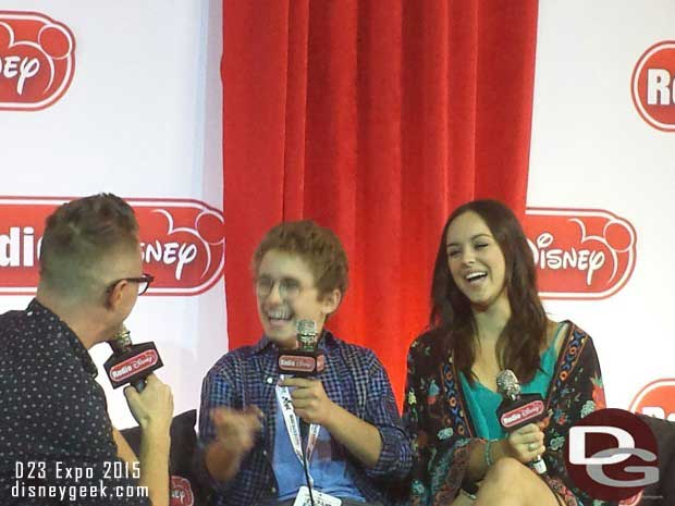 Two of the children from the ABC show the Goldbergs being interviewed by Radio Disney