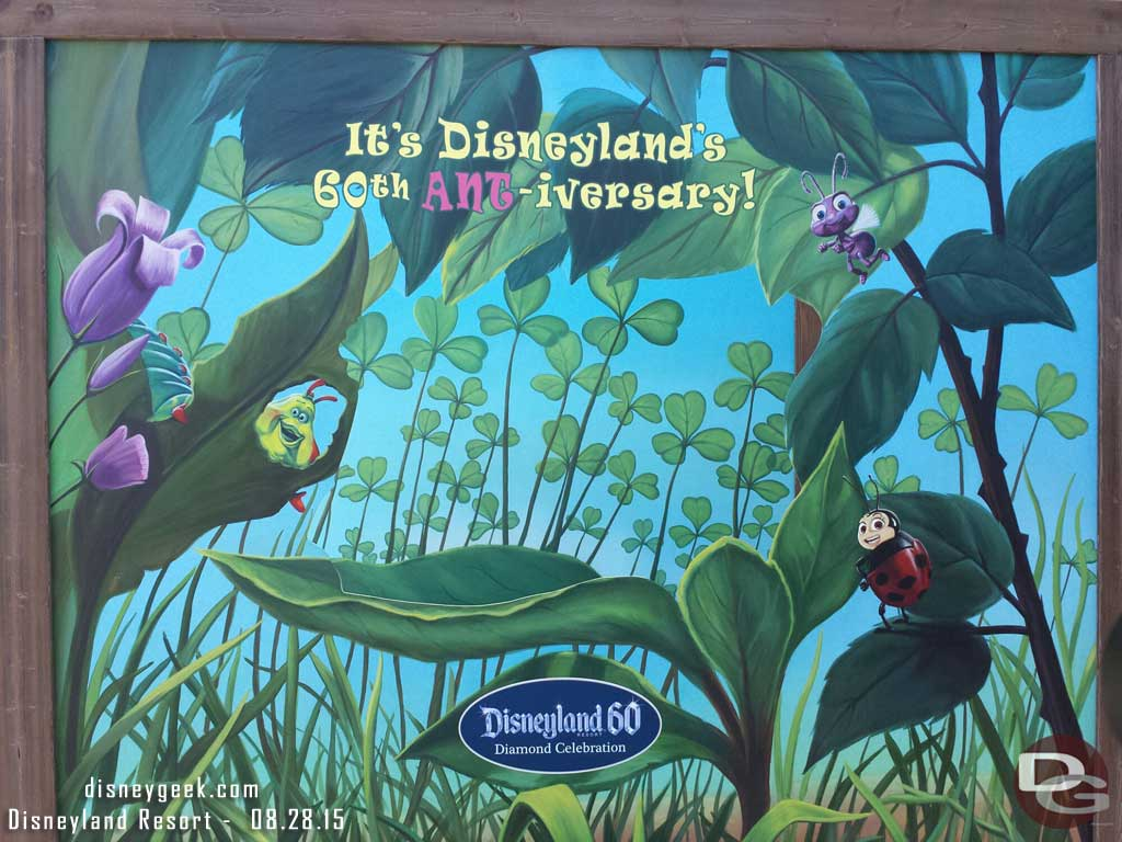 The #Disneyland60 photo location near Tough to Be A Bug  in Disney California Adventure