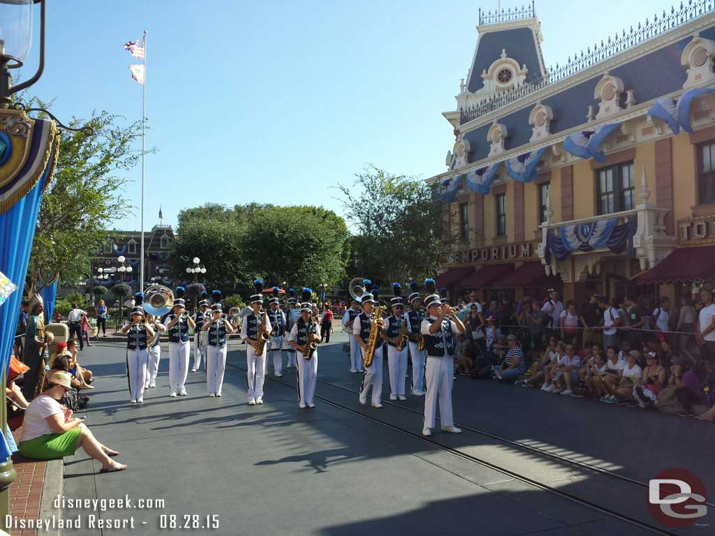 #Disneyland Band performing an attraction medley on Main Street USA