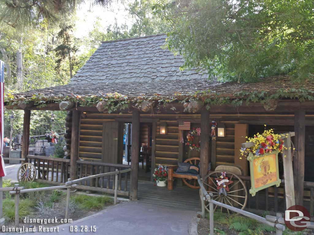 The cabin in the Big Thunder Ranch #Disneyland