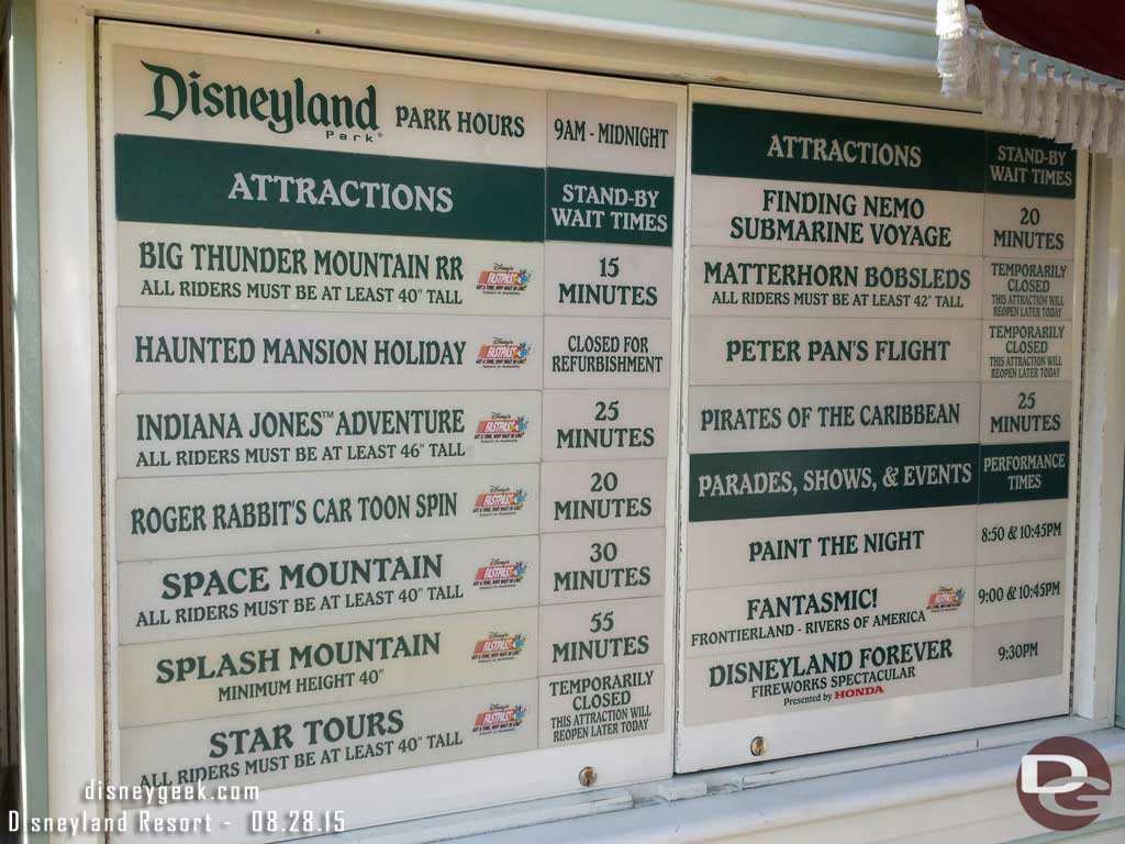 #Disneyland waits as of 5:10pm