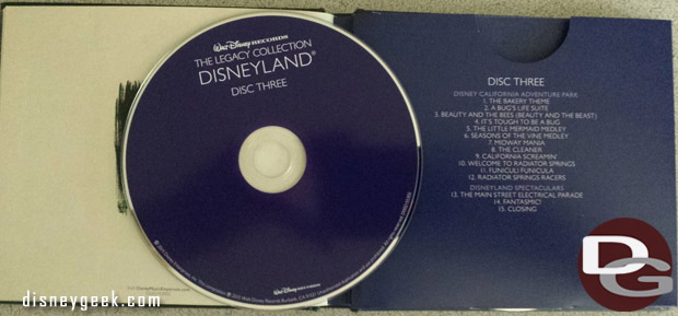 Disneyland Legacy Collection Disc