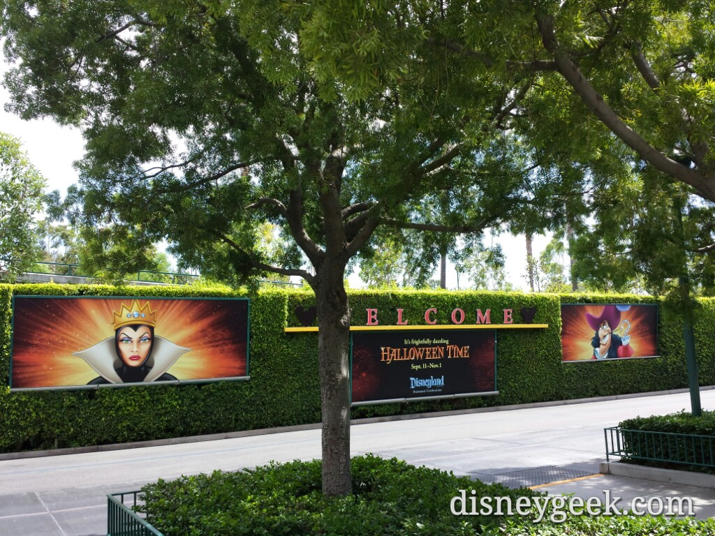 #HalloweenTime has arrived at #Disneyland – Mickey & Friends tram stop billboards